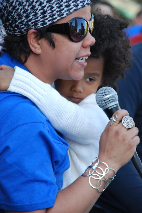 Rosa Clemente Holding Alicia