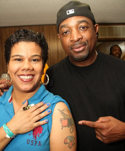 Rosa Clemente and Chuck D