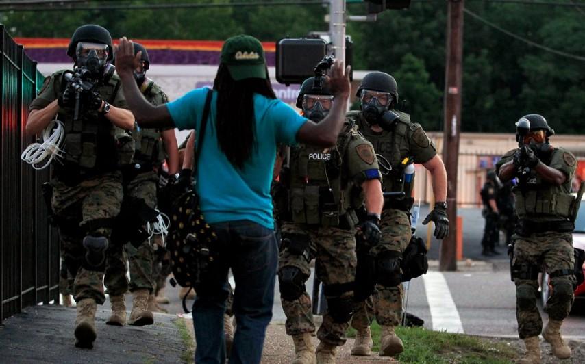 ferguson police militarization